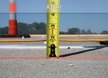 After leveling Medicine Hat roadway with PolyLevel®