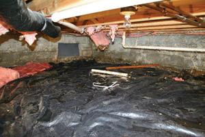 Crawl Space Repair Before in Calgary