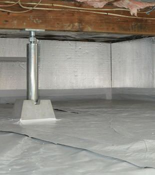 Installed crawl space insulation in Banff