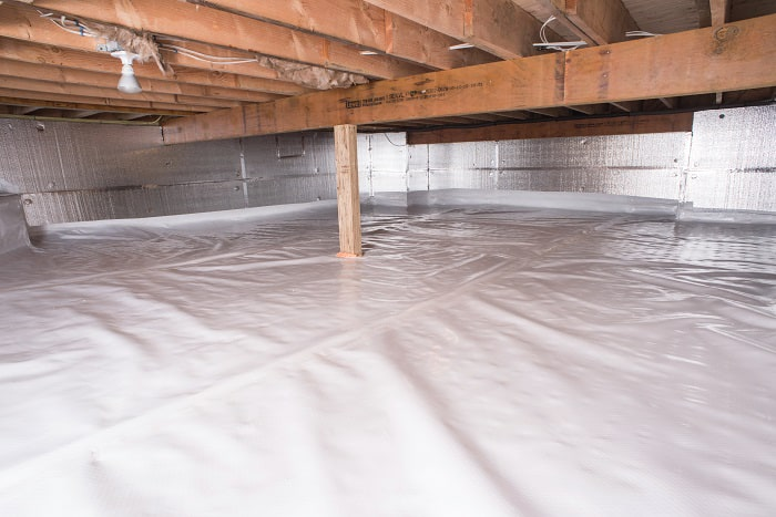 Crawl E Vapor Barrier In Cochrane Installed By Our Contractors