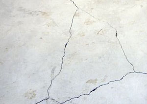 cracks in a slab floor consistent with slab heave in Rocky Mountain House.