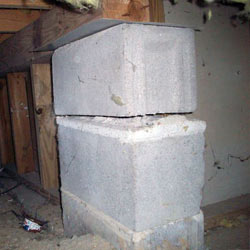 Collapsing crawl space support pillars Scapa