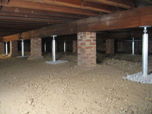 Crawl Space Joist Repair Greater Calgary Foundation Contractors Support Posts