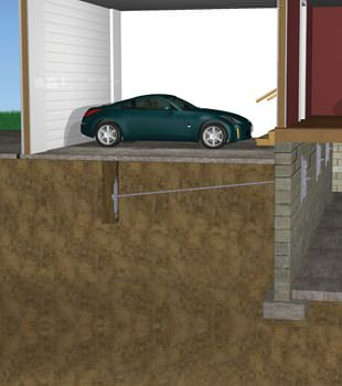 Graphic depiction of a street creep repair in a Torrington home