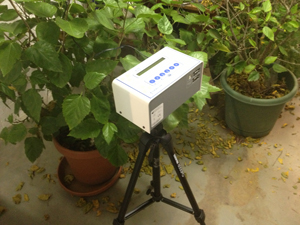 Continuous radon monitor in Calgary home