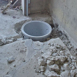 Placing a sump pit in a Innisfail home