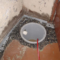 Installing a sump in a sump pump liner in a Lethbridge home