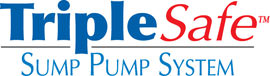 Sump pump system logo for our TripleSafe™, available in areas like Bashaw