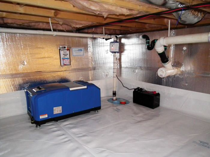 Crawl space dehumidification system in calgary red deer for Crawl space in basement