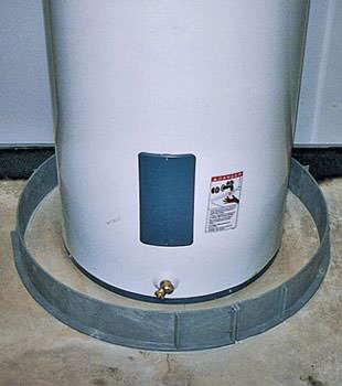 An old water heater in Michichi, AB with flood protection installed
