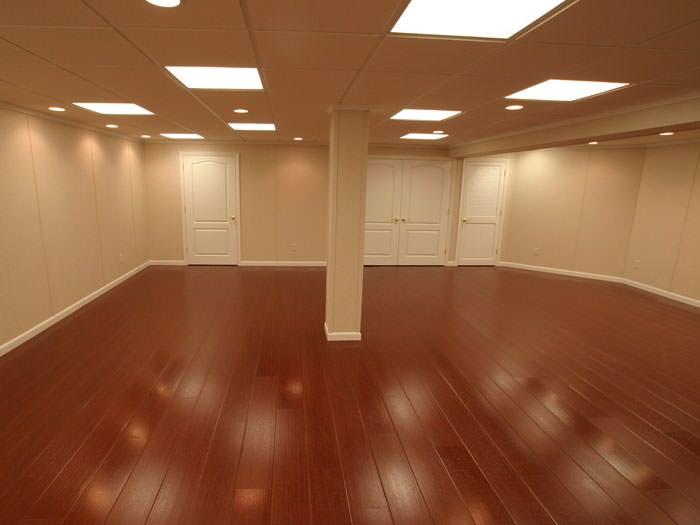 Wood Laminate Basement Floor Finishing In Calgary Chestermere