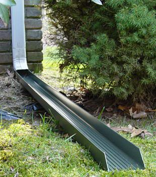 Gutter downspout extension installed in Torrington