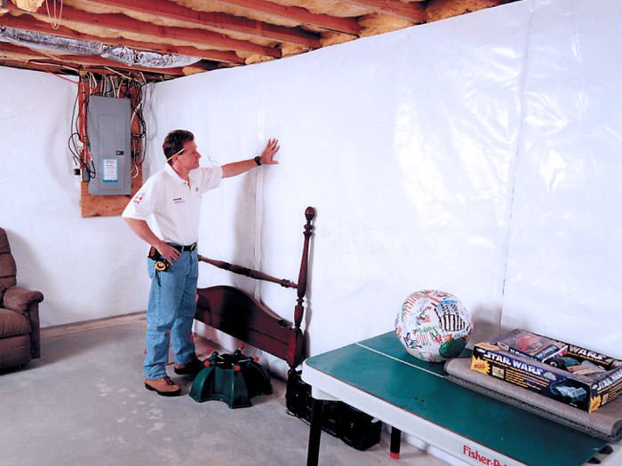 Basement Wall Vapor Barrier System In Calgary Chestermere