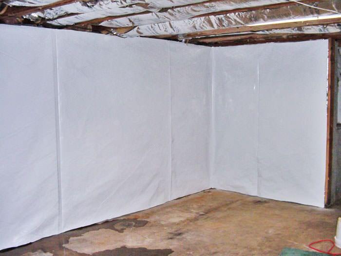 Basement Wall Vapor Barrier System In Calgary Chestermere